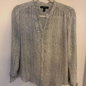 Banana Republic Ruffle-Front Shirt